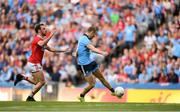 13 July 2019; Paul Mannion of Dublin has a shot on goal which hits the post during the GAA Football All-Ireland Senior Championship Quarter-Final Group 2 Phase 1 match between Dublin and Cork at Croke Park in Dublin. Photo by Eóin Noonan/Sportsfile
