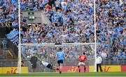 13 July 2019; Luke Connolly of Cork scores his side's first goal of the game from a penalty despite the efforts of Stephen Cluxton of Dublin during the GAA Football All-Ireland Senior Championship Quarter-Final Group 2 Phase 1 match between Dublin and Cork at Croke Park in Dublin. Photo by Eóin Noonan/Sportsfile