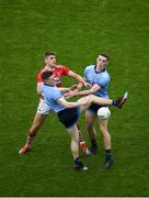 13 July 2019; John Small, left,and Brian Fenton of Dublin in action against Ian Maguire of Cork during the GAA Football All-Ireland Senior Championship Quarter-Final Group 2 Phase 1 match between Dublin and Cork at Croke Park in Dublin. Photo by Daire Brennan/Sportsfile