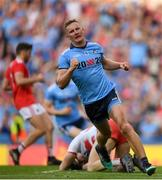 13 July 2019; Ciarán Kilkenny of Dublin celebrates after scoring his side's fourth goal of the game during the GAA Football All-Ireland Senior Championship Quarter-Final Group 2 Phase 1 match between Dublin and Cork at Croke Park in Dublin. Photo by Eóin Noonan/Sportsfile
