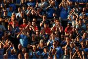 13 July 2019; Six Cork supporters look on as Dublin supporters, on Hill 16, celebrate a score during the GAA Football All-Ireland Senior Championship Quarter-Final Group 2 Phase 1 match between Dublin and Cork at Croke Park in Dublin. Photo by Ray McManus/Sportsfile