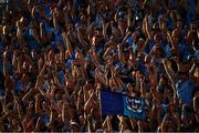 13 July 2019; Dublin supporters, on Hill 16, celebrate their side's fifth goal during the GAA Football All-Ireland Senior Championship Quarter-Final Group 2 Phase 1 match between Dublin and Cork at Croke Park in Dublin. Photo by Ray McManus/Sportsfile