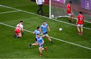 13 July 2019; Brian Fenton of Dublin celebrates after scoring his side's fifth goal during the GAA Football All-Ireland Senior Championship Quarter-Final Group 2 Phase 1 match between Dublin and Cork at Croke Park in Dublin. Photo by Daire Brennan/Sportsfile