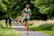 13 July 2019; Cillian O'Leary from Raheny Shamrocks AC, Dublin who came 3rd in the Irish Runner 10 Mile in conjunction with the AAI National 10 Mile Championships at Phoenix Park in Dublin. Photo by Matt Browne/Sportsfile