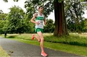 13 July 2019; Cillian O'Leary, from Raheny Shamrocks AC, Dublin who came 3rd in the Irish Runner 10 Mile in conjunction with the AAI National 10 Mile Championships at Phoenix Park in Dublin. Photo by Matt Browne/Sportsfile