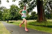 13 July 2019; Cillian O'Leary from Raheny Shamrocks AC, Dublin, who came 3rd in the Irish Runner 10 Mile in conjunction with the AAI National 10 Mile Championships at Phoenix Park in Dublin. Photo by Matt Browne/Sportsfile