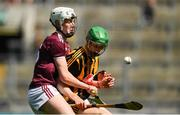 14 July 2019; Peter McDonald of Kilkenny in action against Greg Thomas of Galway during the Electric Ireland GAA Hurling All-Ireland Minor Championship quarter-final match between Kilkenny and Galway at Croke Park in Dublin. Photo by Ramsey Cardy/Sportsfile