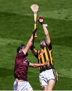 14 July 2019; Billy Drennan of Kilkenny in action against Christy Brennan of Galway during the Electric Ireland GAA Hurling All-Ireland Minor Championship quarter-final match between Kilkenny and Galway at Croke Park in Dublin. Photo by Ramsey Cardy/Sportsfile