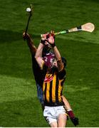 14 July 2019; Billy Drennan of Kilkenny in action against Adam Nolan of Galway during the Electric Ireland GAA Hurling All-Ireland Minor Championship quarter-final match between Kilkenny and Galway at Croke Park in Dublin. Photo by Ramsey Cardy/Sportsfile