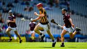 14 July 2019; Colman O'Sullivan of Kilkenny in action against Liam Leen of Galway during the Electric Ireland GAA Hurling All-Ireland Minor Championship quarter-final match between Kilkenny and Galway at Croke Park in Dublin. Photo by Ray McManus/Sportsfile