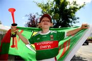 14 July 2019; Mayo supporter, Dylan Fahey, age 6, from Ballina, Co. Mayo, prior to the GAA Football All-Ireland Senior Championship Quarter-Final Group 1 Phase 1 match between Kerry and Mayo at Fitzgerald Stadium in Killarney, Kerry. Photo by Eóin Noonan/Sportsfile