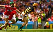 14 July 2019; Colin Fennelly of Kilkenny, under pressure from Niall O'Leary of Cork scores a goal, in the 9th minute, during the GAA Hurling All-Ireland Senior Championship quarter-final match between Kilkenny and Cork at Croke Park in Dublin. Photo by Ray McManus/Sportsfile