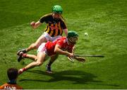 14 July 2019; Alan Cadogan of Cork in action against Joey Holden of Kilkenny during the GAA Hurling All-Ireland Senior Championship quarter-final match between Kilkenny and Cork at Croke Park in Dublin. Photo by Ramsey Cardy/Sportsfile