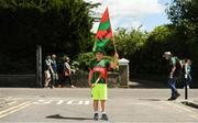 14 July 2019; Mayo supporter Dan Monaghan, age 8, from Belmullet, Co Mayo, prior to the GAA Football All-Ireland Senior Championship Quarter-Final Group 1 Phase 1 match between Kerry and Mayo at Fitzgerald Stadium in Killarney, Kerry. Photo by Eóin Noonan/Sportsfile