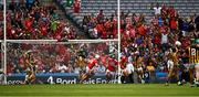 14 July 2019; Patrick Horgan of Cork, 14, celebrates after scoring his side's second goal, in the 28th minute, during the GAA Hurling All-Ireland Senior Championship quarter-final match between Kilkenny and Cork at Croke Park in Dublin. Photo by Ray McManus/Sportsfile