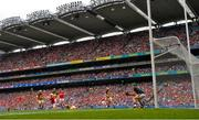 14 July 2019; Patrick Horgan of Cork shoots to score his side's second goal of the game during the GAA Hurling All-Ireland Senior Championship quarter-final match between Kilkenny and Cork at Croke Park in Dublin. Photo by Ramsey Cardy/Sportsfile