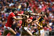 14 July 2019; TJ Reid of Kilkenny in action against Mark Coleman of Cork during the GAA Hurling All-Ireland Senior Championship quarter-final match between Kilkenny and Cork at Croke Park in Dublin. Photo by Ramsey Cardy/Sportsfile