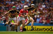 14 July 2019; Patrick Horgan of Cork, under pressure from Joey Holden of Kilkenny, shoots to score scoring his side's third goal, in the 55th minute, during the GAA Hurling All-Ireland Senior Championship quarter-final match between Kilkenny and Cork at Croke Park in Dublin. Photo by Ray McManus/Sportsfile