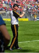 14 July 2019; Kilkenny manager Brian Cody reacts at the final whistle of the GAA Hurling All-Ireland Senior Championship quarter-final match between Kilkenny and Cork at Croke Park in Dublin. Photo by Ramsey Cardy/Sportsfile