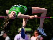 14 July 2019; Aoife O'Sullivan from Liscarroll A.C. Co Cork who won the Girls U17 High Jump during day three of the Irish Life Health National Juvenile Track & Field Championships at Tullamore Harriers Stadium in Tullamore, Co. Offaly. Photo by Matt Browne/Sportsfile
