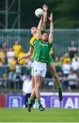 14 July 2019; Bryan Menton of Meath in action against Michael Langan of Donegal during the GAA Football All-Ireland Senior Championship Quarter-Final Group 1 Phase 1 match between Donegal and Meath at MacCumhaill Park in Ballybofey, Donegal. Photo by Daire Brennan/Sportsfile