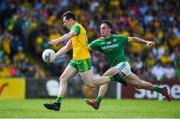 14 July 2019; Jamie Brennan of Donegal in action against James McEntee of Meath during the GAA Football All-Ireland Senior Championship Quarter-Final Group 1 Phase 1 match between Donegal and Meath at MacCumhaill Park in Ballybofey, Donegal. Photo by Daire Brennan/Sportsfile