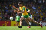 14 July 2019; Odhrán McFadden Ferry of Donegal in action against Donal Keogan of Meath during the GAA Football All-Ireland Senior Championship Quarter-Final Group 1 Phase 1 match between Donegal and Meath at MacCumhaill Park in Ballybofey, Donegal. Photo by Daire Brennan/Sportsfile