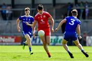 14 July 2019; Michael McGleenan of Tyrone in action against Conor McKernan, left, and Ronan Boyle of Monaghan during the Electric Ireland Ulster GAA Football Minor Championship Final match between Monaghan and Tyrone at Athletic Grounds in Armagh. Photo by Piaras Ó Mídheach/Sportsfile