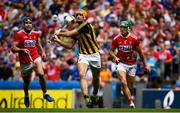 14 July 2019; Colin Fennelly of Kilkenny in action against Eoin Cadogan of Cork during the GAA Hurling All-Ireland Senior Championship quarter-final match between Kilkenny and Cork at Croke Park in Dublin. Photo by Ramsey Cardy/Sportsfile