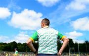 14 July 2019; Meath manager Andy McEntee ahead of the GAA Football All-Ireland Senior Championship Quarter-Final Group 1 Phase 1 match between Donegal and Meath at MacCumhaill Park in Ballybofey, Donegal. Photo by Daire Brennan/Sportsfile