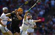 14 July 2019; Séamus Callanan of Tipperary shoots past John Lennon of Laois to score his side's second goal, in the 16th minute, during the GAA Hurling All-Ireland Senior Championship quarter-final match between Tipperary and Laois at Croke Park in Dublin. Photo by Ray McManus/Sportsfile