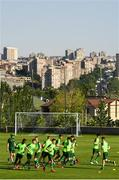 14 July 2019; Republic of Ireland players during a training session ahead of their side's opening game of the 2019 UEFA European U19 Championships at the FFA Technical Centre in Yerevan, Armenia. Photo by Stephen McCarthy/Sportsfile