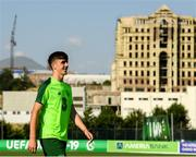 14 July 2019; Barry Coffey arrives for a Republic of Ireland training session ahead of his side's opening game of the 2019 UEFA European U19 Championships at the FFA Technical Centre in Yerevan, Armenia. Photo by Stephen McCarthy/Sportsfile