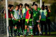 14 July 2019; Republic of Ireland assistant coach Mick Neville speaks to players during a Republic of Ireland training session ahead of their opening game of the 2019 UEFA European U19 Championships at the FFA Technical Centre in Yerevan, Armenia. Photo by Stephen McCarthy/Sportsfile