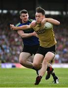 14 July 2019; David Clifford of Kerry is tackled by Brendan Harrison of Mayobgb during the GAA Football All-Ireland Senior Championship Quarter-Final Group 1 Phase 1 match between Kerry and Mayo at Fitzgerald Stadium in Killarney, Kerry. Photo by Brendan Moran/Sportsfile