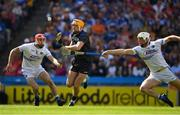 14 July 2019; Séamus Callanan of Tipperary in action against Jack Kelly and Ryan Mullaneyof Laois during the GAA Hurling All-Ireland Senior Championship quarter-final match between Tipperary and Laois at Croke Park in Dublin. Photo by Ray McManus/Sportsfile