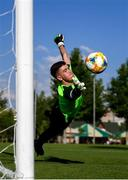 14 July 2019; Goalkeeper Brian Maher during a Republic of Ireland training session ahead of his side's opening game of the 2019 UEFA European U19 Championships at the FFA Technical Centre in Yerevan, Armenia. Photo by Stephen McCarthy/Sportsfile