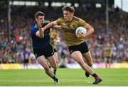 14 July 2019; David Clifford of Kerry is tackled by Brendan Harrison of Mayo during the GAA Football All-Ireland Senior Championship Quarter-Final Group 1 Phase 1 match between Kerry and Mayo at Fitzgerald Stadium in Killarney, Kerry. Photo by Brendan Moran/Sportsfile