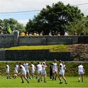 14 July 2019; Supporters watch the Meath team warm-up ahead of the GAA Football All-Ireland Senior Championship Quarter-Final Group 1 Phase 1 match between Donegal and Meath at MacCumhaill Park in Ballybofey, Donegal. Photo by Daire Brennan/Sportsfile