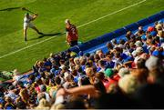 14 July 2019; Willie Dunphy of Laois takes a sideline cut during the GAA Hurling All-Ireland Senior Championship quarter-final match between Tipperary and Laois at Croke Park in Dublin. Photo by Ramsey Cardy/Sportsfile