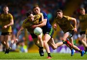 14 July 2019; Paul Murphy of Kerry is tackled by Fionn McDonagh of Mayo during the GAA Football All-Ireland Senior Championship Quarter-Final Group 1 Phase 1 match between Kerry and Mayo at Fitzgerald Stadium in Killarney, Kerry. Photo by Eóin Noonan/Sportsfile