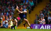 14 July 2019; Fionn McDonagh of Mayo is tackled by Paul Murphy of Kerry during the GAA Football All-Ireland Senior Championship Quarter-Final Group 1 Phase 1 match between Kerry and Mayo at Fitzgerald Stadium in Killarney, Kerry. Photo by Eóin Noonan/Sportsfile