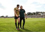 14 July 2019; Mayo manager James Horan with David Moran of Kerry following the GAA Football All-Ireland Senior Championship Quarter-Final Group 1 Phase 1 match between Kerry and Mayo at Fitzgerald Stadium in Killarney, Kerry. Photo by Eóin Noonan/Sportsfile