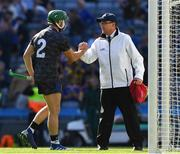 14 July 2019; Cathal Barrett of Tipperary shakes hands with an umpire after the GAA Hurling All-Ireland Senior Championship quarter-final match between Tipperary and Laois at Croke Park in Dublin. Photo by Ray McManus/Sportsfile