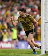 14 July 2019; Paul Geaney of Kerry celebrates after scoring his side's first goal of the game during the GAA Football All-Ireland Senior Championship Quarter-Final Group 1 Phase 1 match between Kerry and Mayo at Fitzgerald Stadium in Killarney, Kerry. Photo by Eóin Noonan/Sportsfile
