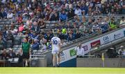 14 July 2019; Aaron Dunphy of Laois heads for the bench after being shown a red card during the GAA Hurling All-Ireland Senior Championship quarter-final match between Tipperary and Laois at Croke Park in Dublin. Photo by Ray McManus/Sportsfile