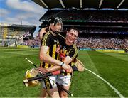 14 July 2019; Walter Walsh and Richie Leahy of Kilkenny celebrate victory in he GAA Hurling All-Ireland Senior Championship quarter-final match between Kilkenny and Cork at Croke Park in Dublin. Photo by Ray McManus/Sportsfile