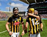 14 July 2019; Walter Walsh of Kilkenny as his team mates Padraig Walsh and Richie Leahy celebrate after the GAA Hurling All-Ireland Senior Championship quarter-final match between Kilkenny and Cork at Croke Park in Dublin. Photo by Ray McManus/Sportsfile