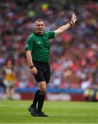 14 July 2019; Referee James Owens during the GAA Hurling All-Ireland Senior Championship quarter-final match between Kilkenny and Cork at Croke Park in Dublin. Photo by Ray McManus/Sportsfile