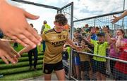 14 July 2019; David Clifford of Kerry is greeted by supporters as he leaves the pitch after the GAA Football All-Ireland Senior Championship Quarter-Final Group 1 Phase 1 match between Kerry and Mayo at Fitzgerald Stadium in Killarney, Kerry. Photo by Brendan Moran/Sportsfile